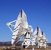 Radio satellite dishes of the Very Large Array telescope