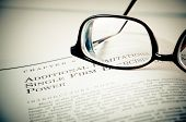 Eye Glasses On A Legal Book