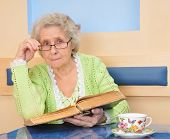 Senior Lady Holding A Book