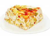 Piece Of Sponge-cake On White Plate