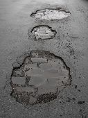 potholes / road damage