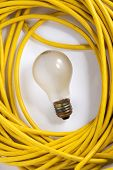 Light Bulb And Cable