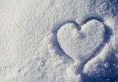 Love Heart Shape In Snow