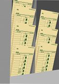 Weekly Wages Job Cards Time Card Rack