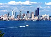 Seattle Skyline & Boats