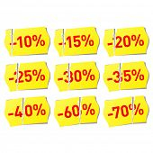 Vector set of discount stickers