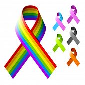 pic of leukemia  - Awareness ribbons - JPG