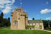 Medieval Scottish Castle In Bright Summer Day poster