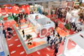 Defocused Background Of A Trade Show poster