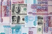 Russian And American Currencies