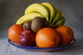 Plate Of Fresh Healthy Fruit
