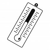 Big Thermometer Icon. Simple Illustration Of Big Thermometer Vector Icon For Web poster