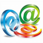 3d vector e- mail icon