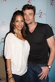 LOS ANGELES - AUG 27:  Christel Khalil, Daniel Goddard attending the Daniel Goddard Fan Event 2011 at the Universal Sheraton Hotel on August 27, 2011 in Los Angeles, CA
