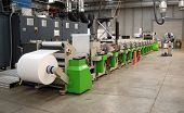 Industrielle Printshop: Flexo Presse drucken