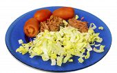 Salad, Tomato And Meat