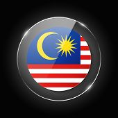 Malaysia National Flag. Application Language Symbol. Country Of Manufacture Icon. Round Glossy Isola poster
