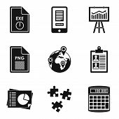 Production Environment Icons Set. Simple Set Of 9 Production Environment Vector Icons For Web Isolat poster