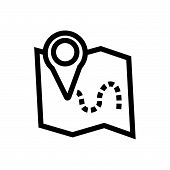 Location On Map Vector Icon On White Background. Location On Map Modern Icon For Graphic And Web Des poster