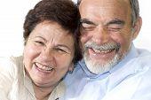 Постер, плакат: Старший пару смеется