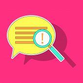 Sticker Instagram Comment Icon Vector, Message Sign, Post Symbol, Ui Elements, Conversation Shape, I poster
