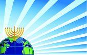 hanukkah around the globe illustration