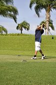 Preteen Golfing