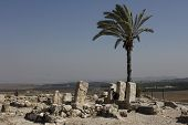image of revelation  - The Ancient Tel Megiddo Ruins - JPG