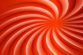 White And Red Rotating Hypnosis Spiral. Optical Illusion. Hypnotic Psychedelic Vector Illustration.  poster