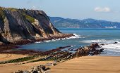 pic of basque country  - A Basque Country beach in Zumaia Gipuzkoa - JPG