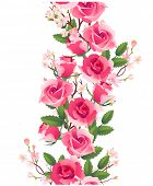 Vertical seamless rose pattern