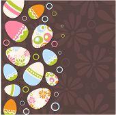 Easter egg pink background