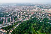 City Municipality of Bremen Aerial FPV drone footage. Bremen is a major cultural and economic hub in poster