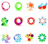 Modern colorful symbols for your design (part 1). Please visit my gallery to see similar.