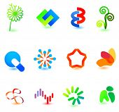 Modern colorful symbols for your design (part 4). Please visit my gallery to see similar.