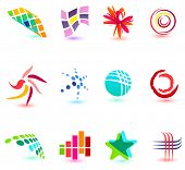 Set of different icons for your design (Part 19). Please visit my gallery to see similar.