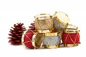 Christmas Decorations, Drums, Pine Cones
