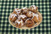 Cinnamon Streusel Cupcakes On A Plate