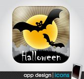 halloween app icon for mobile devices