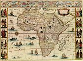 Antique Map Of Africa.