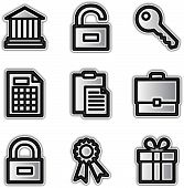 Web icons silver contour financial