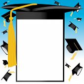 Graduation card vector