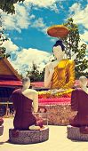 picture of dharma  - The Buddha Statue Dharma Teaching with the blue sky - JPG