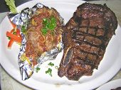 New York Strip And Loaded Baked Potaio