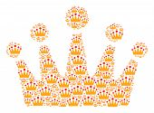 Crown Collage Constructed In The Collection Of Crown Icons. Vector Iconized Collage Made With Simple poster