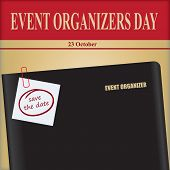 Event Organizer Office Notebook - For October Event Event Organizers Day poster