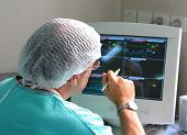 Doctor Working With Monitoring Equipment