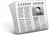 Latest news. Vector illustration of newspaper