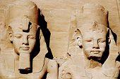 picture of ramses  - Abu Simbel Temple of King Ramses II - JPG