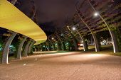 Southbank footpath at night - Brisbane - Australia